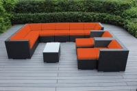 Outdoor Patio Wicker Furniture 12pc Gorgeous Couch Set ...