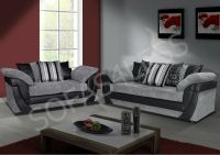 sale new lush 3 + 2 seater sofa faux leather & fabric
