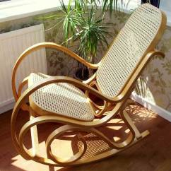 Bent Wood Rocking Chair Turkey Lounger Folding Hunting New Bentwood Birch Rattan Thonet Living Bed Room Conservatory | Ebay