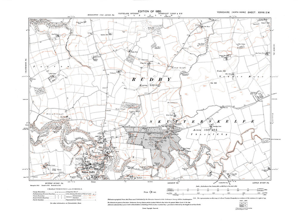 Map Of Yorkshire England