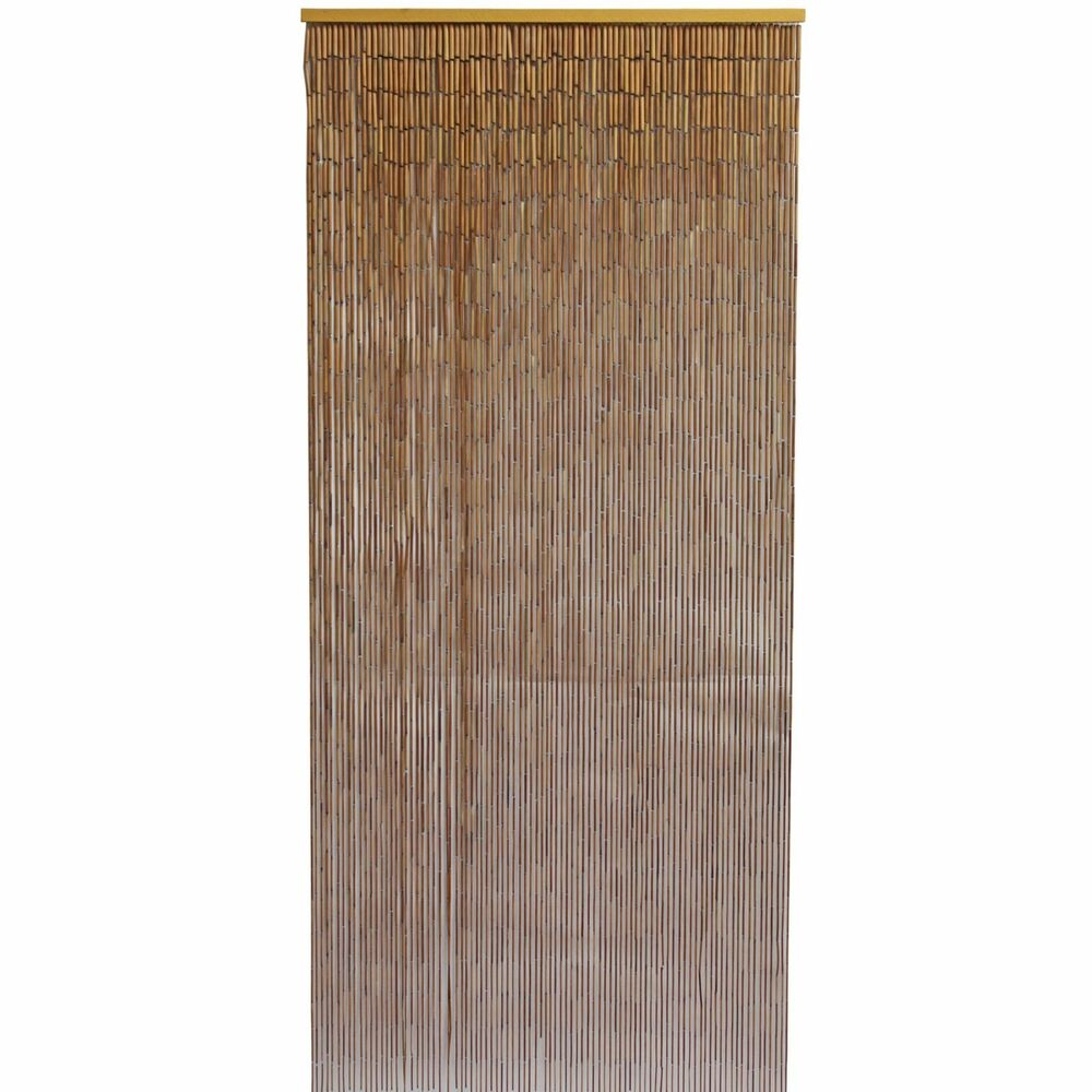 Bamboo Door Curtain with Galvanized Wire Natural