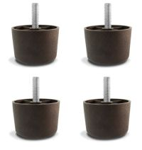 """1 1/2"""" Universal Brown Plastic Furniture Legs Sofa/Couch ..."""