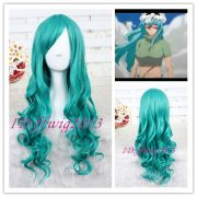 65cm long dark turquoise anime