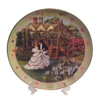 THE ANNIVERSARY Decorative Plate by Rob Sauber with wooden ...