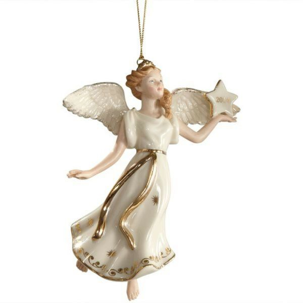 Lenox 2014 Annual Angel Ornament Figurine Wings Of Glory