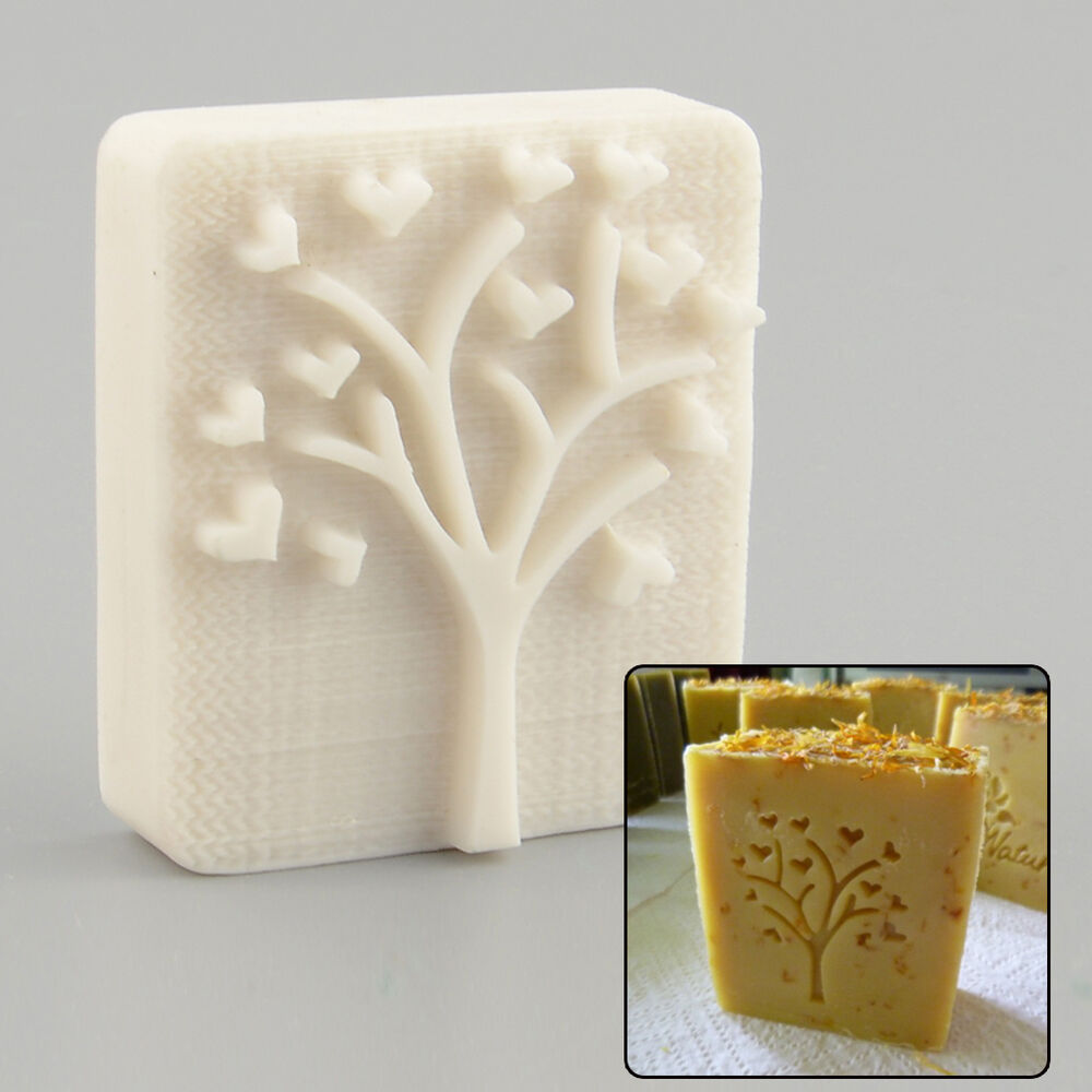 Heart Tree Design Handmade Yellow Resin Soap Stamp Stamping Mold Mould Craft  eBay