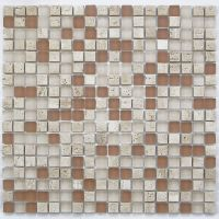 SAMPLE. Light Brown Small Glass and Stone Mosaic Tile for ...