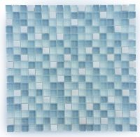 Light Blue and White Small Glass and Stone Mosaic Tile for ...