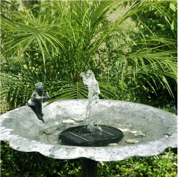 Floating Solar Powered Pond Garden Water Pump Fountain