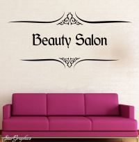 Personalised Beauty Salon Wall Art Sticker Hair ...