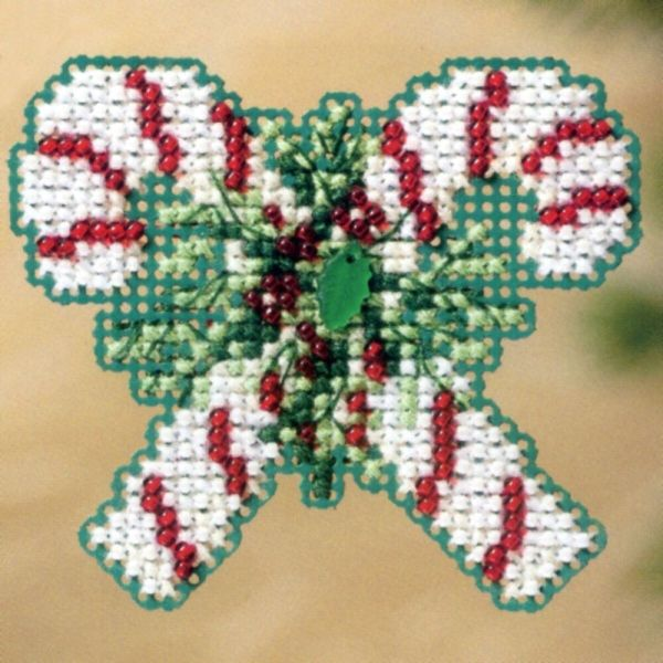 Candy Canes Bead Christmas Ornament Kit Mill Hill 2011