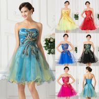 2015 Sweet Short Prom Dresses Bridesmaid Formal Party Ball ...