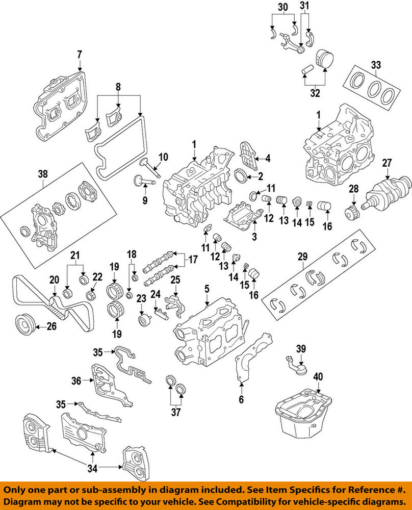 medium resolution of details about subaru oem 04 13 forester engine timing cover right 13573aa121