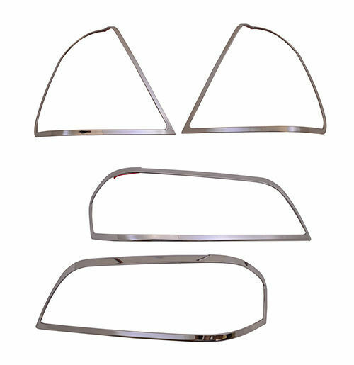 Chrome Headlights/Tail Lights Trim for 94-00 Mercedes W202