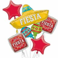 Spanish Fiesta Balloons Bouquet Mexican Party Decoration ...