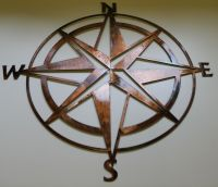 Nautical COMPASS ROSE WALL ART DECOR copper/bronze plated