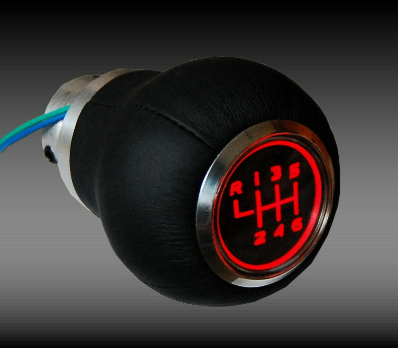 AUDI SPEED SHIFT GEAR KNOB RED LED ILLUMINATED a3 a4 a5 a6