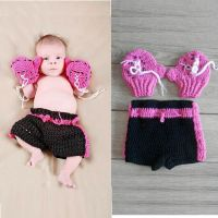 Baby Girls Boxing Gloves Knitted Crochet Costume Photo ...