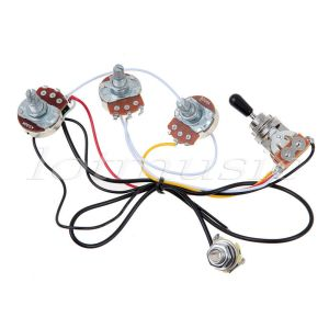 Guitar Wiring Harness with 2 Volume 1 Tone Pots 500K 3 Way