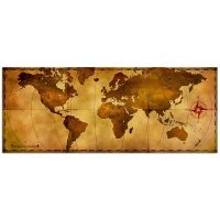 Old World Map Rustic Metal Wall Art Aged Antique Style ...