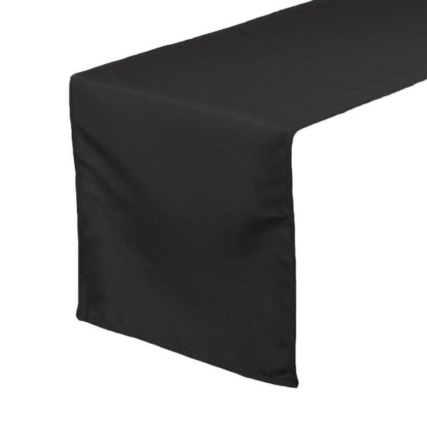 14 X 108 Polyester Table Runners Black