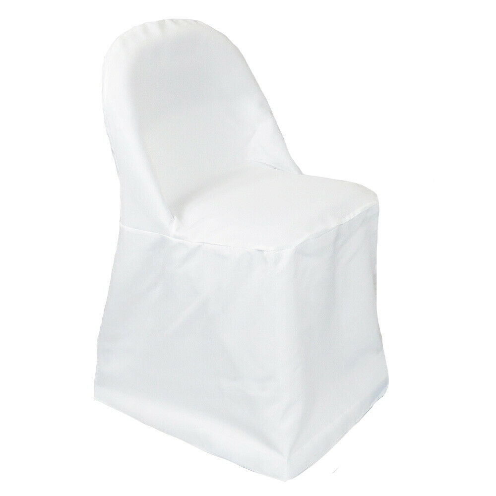 Polyester Folding Chair Covers White  eBay