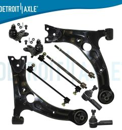 details about brand new 10pc complete suspension kit for 2003 2008 pontiac vibe 10 yr warranty [ 1000 x 1000 Pixel ]