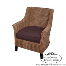 Pottery Barn Seagrass Wingback Chair