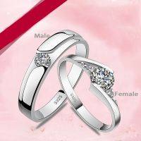Personalized couple rings rhinestone custom engraved