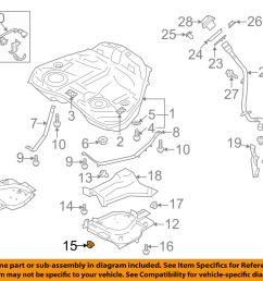 details about subaru oem 90 94 loyale 1 8l h4 fuel system protector lock nut 023508000 [ 1000 x 798 Pixel ]