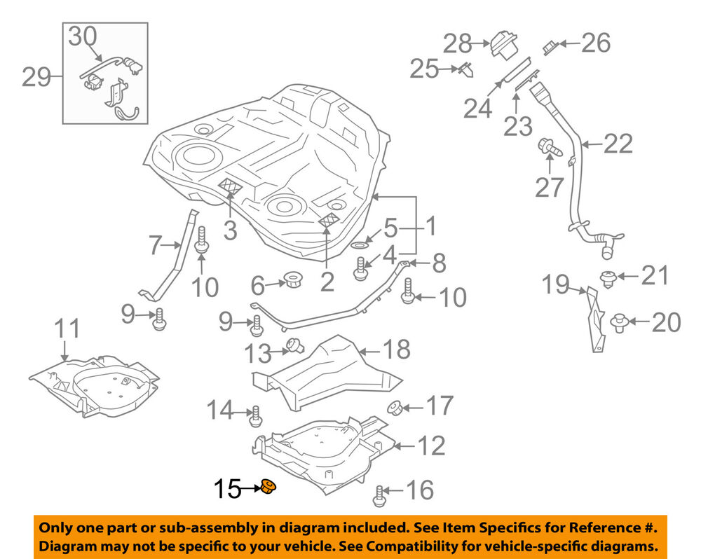 medium resolution of details about subaru oem 90 94 loyale 1 8l h4 fuel system protector lock nut 023508000