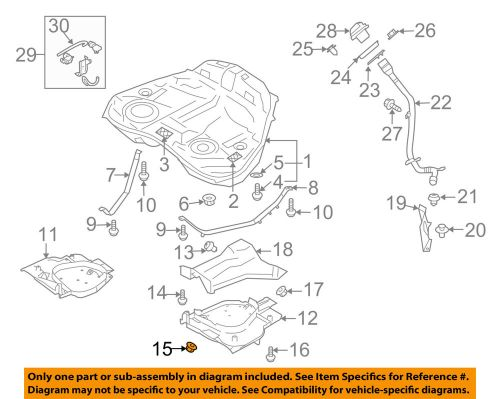 small resolution of details about subaru oem 90 94 loyale 1 8l h4 fuel system protector lock nut 023508000