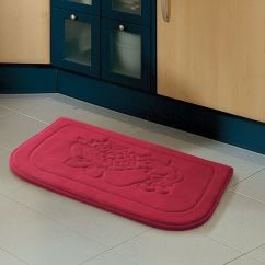 Memory Foam Kitchen Rug 4 Piece Appliance Packages Red Fruit Anti Fatigue Floor Mat ...