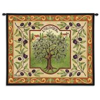L'Olivier Tuscan Olive Tree Woven Art Tapestry Wall ...