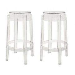 Ghost Bar Chair Homechoice Covers Set Of 2 Acrylic Stool Or Counter Louis Details About Barstool Replica