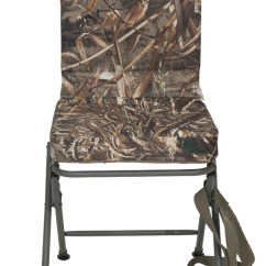 Chair Blinds For Hunting Old Rocking Banded Swivel Blind Padded Seat Stool Realtree Max 5 Camo Tall New   Ebay