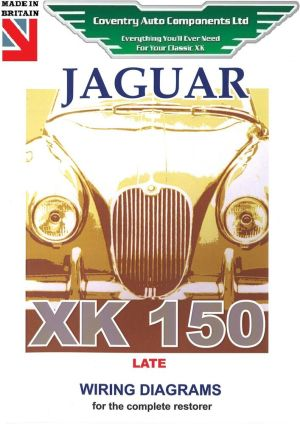 Jaguar XK150 Late Model Exploded Wiring Diagram Book (9189