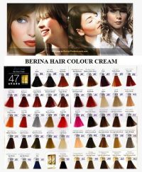 BERINA Hair Style Dye 47 Color Shade Cream Permanent ...