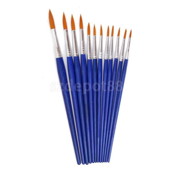 Wooden Fine Pointed Tip Paint Brush Decorating Model Painting Hobby Craft