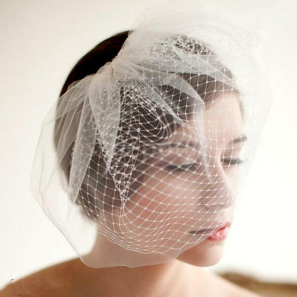 Wedding Bridal Party Birdcage Face Veil With Hair Comb