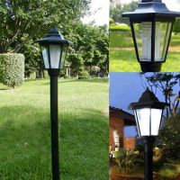 Outdoor Solar Power LED Path Way Wall Landscape Mount ...