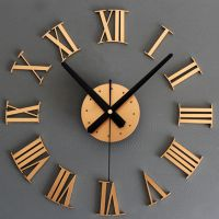 DIY Luxury 3D Roman numerals Wall Clock Large Size Home ...