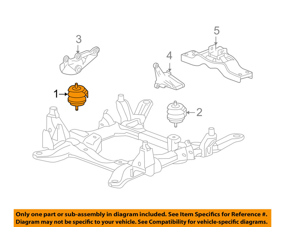 medium resolution of details about cadillac gm oem 04 09 srx engine motor mount torque strut 25971089