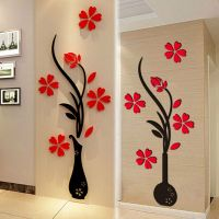 3D Vase Flower DIY Mirror Wall Decals Stickers Art Home ...