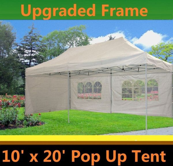 10'x20' Pop Canopy Party Tent - White Model Upgraded Frame