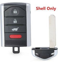 details about new uncut replacement remote key fob shell case 3 1b for acura tl zdx rdx ilx [ 1000 x 1000 Pixel ]