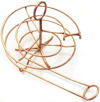 Copper Egg Display, egg holder, egg ramp, egg spiral
