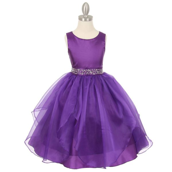 Purple Flower Girl Dresses Birthday Wedding Formal Pageant