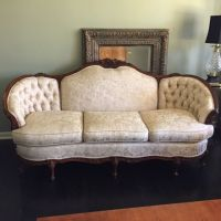 HAND MADE FRENCH PROVINCIAL SOLID MAHOGANY THREE PIECE ...