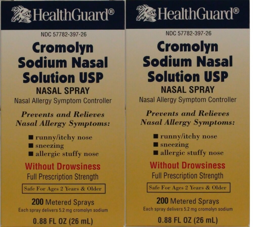 Cromolyn Solution For Nasal Allergies Generic for Nasalcrom 0.88 oz ...